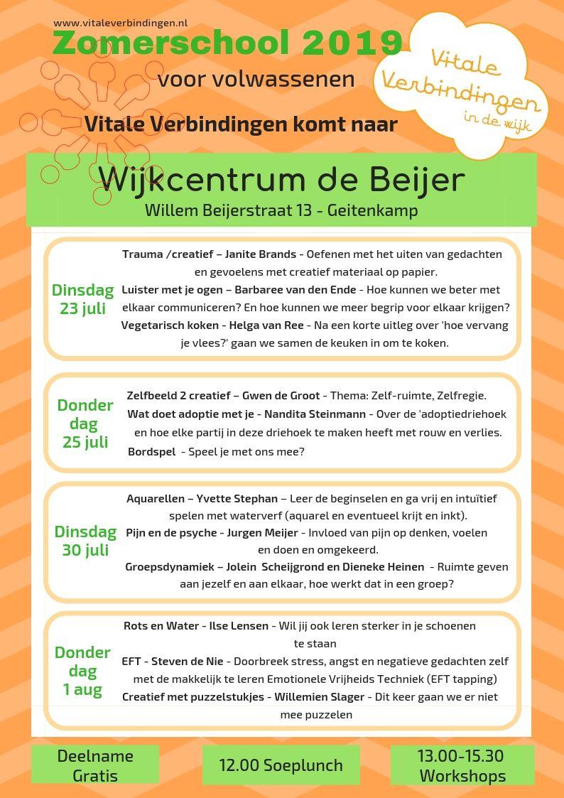 Vitale Verbindingen Organiseert De Zomerschool Vredenburg